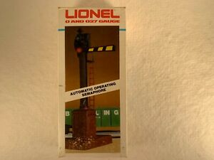 LIONEL 6-2151, AUTOMATIC OPERATING SEMAPHORE, OB & INSTRUCTIONS