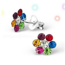 Studex Sensitive Coloured Daisy Crystal Stone Stainless Steel Stud Earrings