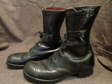 WW2 US ARMY M-43 LEATHER DOUBLE BUCKLE AIRBORNE TANKER COMBAT SERVICE BOOTS