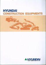 Equipment Brochure Hyundai Construction Product Line Overview 1994 E4916