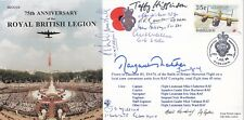 75th Anniv of the Royal British Legion. Signed Baroness Thatcher and 9 Battle of