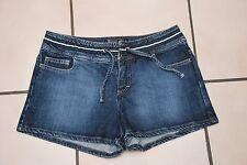 """Mini short""""RIVER WOODS"""" en jean's bleu foncé Taille 36 pour l'été Très Bon Etat!"""