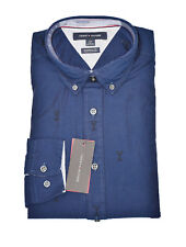 Tommy Hilfiger Navy Blue Mens Small S Embroidered Martini Shirt 307
