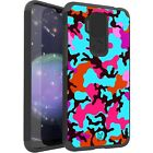 MetKase Hybrid Slim Phone Case Cover For Cricket Influence - TEAL STYLISH CAMO