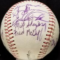 1985 AL CHAMP Toronto Blue Jays Team Signed Ball Pre ROOKIE FRED MCGRIFF Auto