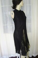 SIZE 6 BLACK ASOS LACE DRESS OR LONG TOP WITH UNDERLAY 🍡 FREE POST ON ANY 5 at9