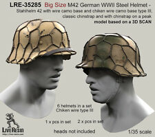 LIVE RESIN, LRE35285, Big Size M42 German WWII Steel Helmet - Stahlhelm 42, 1:35