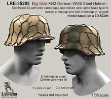 LIVE Resin, LRE35285, grandi dimensioni M42 Elmetto acciaio tedesco seconda guerra mondiale-STAHLHELM 42, 1:35