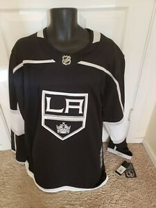 New Hockey Adidas Authentic LA Kings Home Blank Jersey NHL Black Size 52