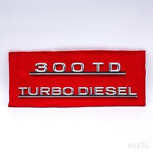 Vintage MERCEDES BENZ TD TURBO DIESEL Typenschild Emblem Set Logo Badge Sign