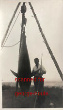 ZANE GREY - PHOTOGRAPH - SIGNED - 1924 - TUNA - NOVA SCOTIA - ROD -  REEL