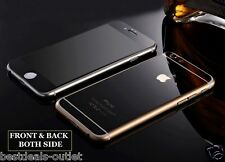 Apple iPhone 6 - Black Tempered Glass - Mirror Shiny Effect - Front & Back Side