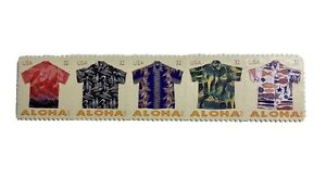 Scott # 4592-4596 ~ Strip of 5, 32 cent Aloha Shirt Stamps 2012 MNH