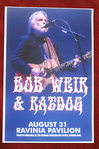 Bob Weir autographed concert poster 2014 The Grateful Dead, Dead & Co., Ratdog