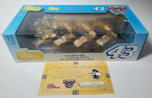 1998 RICHARD PETTY GOLD  7 TIME CHAMP CAR & TRANSPORTER SET WITH AUTOGRAPH