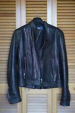 Genuine Versus Versace Rare Mens Leather Biker Jacket Black Size 34 / XS (Read)