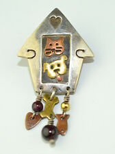FAR FETCHED STERLING SILVER CAT & DOG HOUSE TIE TACK OR LAPEL PIN GREAT FOR VET!