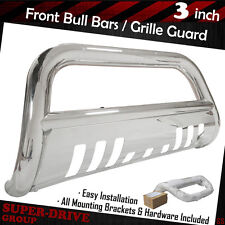Front Bumper For 2002-2005 Dodge Ram 1500 Stainless Steel Bull Bar Grille Guards