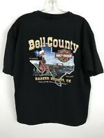 Harley Davidson Henley XL Black Cotton Bell County Texas Vintage Harker Heights