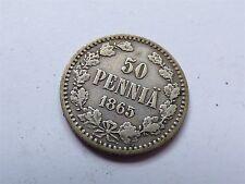 Finland 50 Pennia 1865 S Silver (myrefn9044)