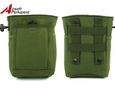 Tactical Hunting Paintball Molle Magazine Dump Drop Pouch Ammo Bag Olive Drab