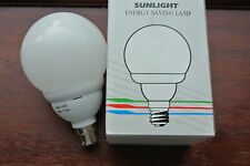 Sunlight B22 BC G95 Globe low energy saving bulb 16w 5000 hour warm white
