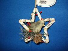Dove Ornament In a Birch Twig Star 685658 59