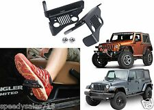 Pair Jeep Grill Foot Pegs For 2007-2016 Jeep Wrangler Doors Off New Free Ship