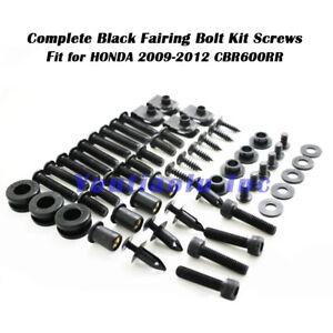 Black /& Silver 9FastMoto Full Motorcycle Fairings Bolt Screw Kits for 2005 2006 Honda CBR 600 RR F5 05 06 Aluminium Screws Fastener Clips