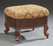 American Carved Mahogany Footstool, late 19th c., the bowed slip sea. Lot 1165