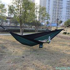 Nylon Cord Hanging Hammock Swing Tessuto Camping Tela Canvas 2 Person Portable