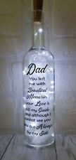 Personalised memorial memory light up bottle Bereavement Family Gift Mum Dad Nan