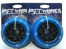 2 x Grit Plastic Core 100mm Scooter Wheels Blue / Black - FREE FAST DELIVERY