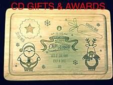 Personalised Christmas Eve Treat Board Kids Rudolf Santa Milk Cookies