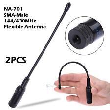 2Pcs 144/430MHz NA-701 10Watts SMA-Male Antenna for Yaesu 6 7 8R Dual-Band Radio