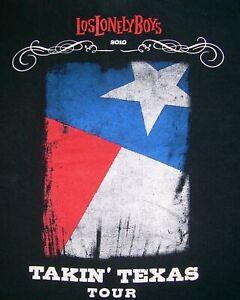 Los Lonely Boys T Shirt Mens S  Black Takin Texas  Tour 2010 Lone Star Flag