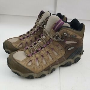Oboz Sawtooth Dry Waterproof Hiking Boots Shoes Brown Black Women Size 6