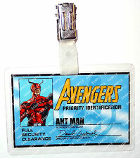 Marvel Avengers ID Badge Comic Ant Man Hank Pym Cosplay Costume Prop Halloween