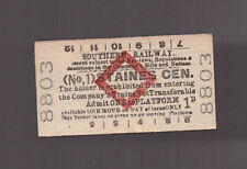 Southern Railway Platform Ticket - Staines Central (No.1) - Dated 1950