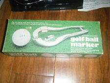 VINTAGE GOLF BALL MARKER DYNAMIC CLASSICS WITH BOX INSTRUCTIONS TAPE LETTERS ++