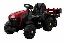 Elektro-Kindertraktor mit Anhänger, Staufach & Schaufel, Fernbedienung, 2 Motore