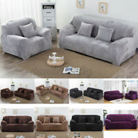 Seater Plush Stretch Slipcovers Elastic Sofa Cover Couch Furniture Protector