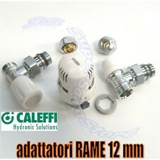 3S VALVOLA DETENTORE CALEFFI CALORIFERO per TUBO RAME 12mm + TESTA TERMOSTATICA