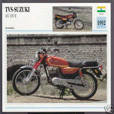 1992 TVS-Suzuki AX 100cc R (98cc) India-Japan Motorcycle Photo Spec Info Card