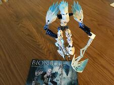 Lego Bionicle 8982 Strakk Glatorian White Light & Dark Blue Weapons Complete