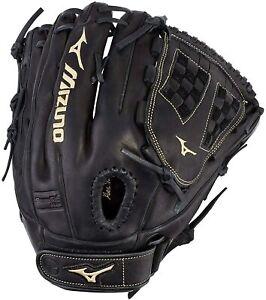 New Mizuno MVP Prime Series Fielding Glove 12.5 Inch Baseball RHT Black/Gold