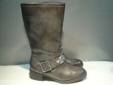 WOMENS 9 M SIMPLY VERA WANG BROWN JEWELLED WESTERN COWBOY VEGAN PULL-ON BOOTS