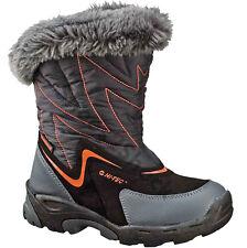 GIRLS HI-TEC THERMAL WATERPROOF BOOTS SIZE UK 11 EU 30 BLACK SNOWPLAY SPORT 200