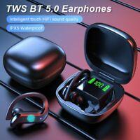 Ear Hook Bluetooth Headset 5.0 TWS Wireless Earphones Earbuds Stereo Headphones