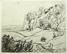 Heinrich reifferscheid-romantique paysage-Gravure 1921